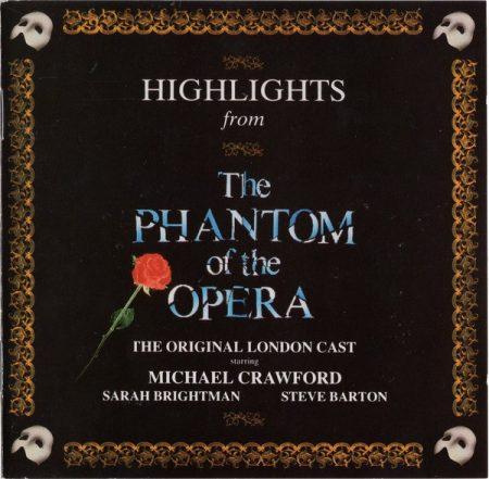 Phantom Of The Opera, The - Musical - Highlights (1987) (1CD) (Andrew Llyod Webber) (Original London Cast)