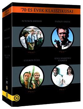 Elnök emberei, Az / Piszkos Harry / Gyilkos túra / Száll a kakukk fészkére (4 DVD box) ('70-es évek klasszikusai - 4 filmes gyűjtemény) (Oscar-díj)