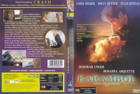 Karambol (1996 - Crash) (1DVD) (James Spader - David Cronenberg) (FF Film & Music  kiadás) /használt, karcos/